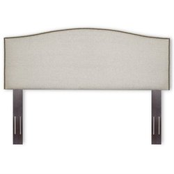 Pemberly Row Upholstered Headboard in Pearl