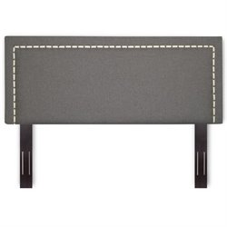 Pemberly Row Upholstered Headboard in Ash