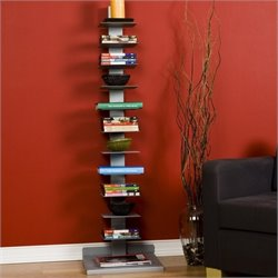 Pemberly Row Book Tower in Painted Silver