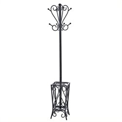 Pemberly Row Coat Rack and Umbrella Stand in Painted Black