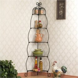 Pemberly Row Corner Etagere in Black