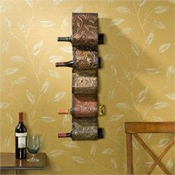 Pemberly Row Wall Mount Wine Rack Sculpture