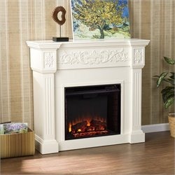 Pemberly Row Calvert Ivory Electric Fireplace
