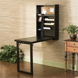 Pemberly Row Fold Out Convertible Desk in Black