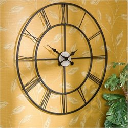 Pemberly Row Decorative Wall Clock in Painted Silver
