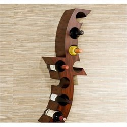 Pemberly Row Wall Mount Wine Rack in Rust