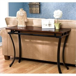 Pemberly Row Sofa Table in Rich Espresso