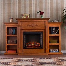 Pemberly Row Electric Fireplace w Bookcases