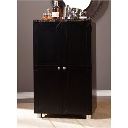 Pemberly Row Cape Town Home Bar Cabinet in Black