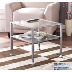 Pemberly Row Coffee Table in Silver and Black