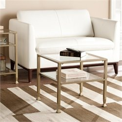 Pemberly Row Bunching Coffee Table in Matte Gold