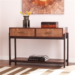 Pemberly Row Console Table with Drawers in Espresso