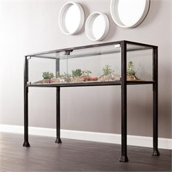 Pemberly Row Display Console in Black and Silver