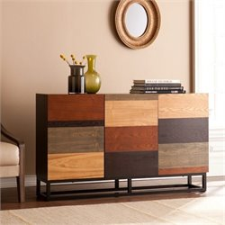 Pemberly Row Console Table in Wood and Black