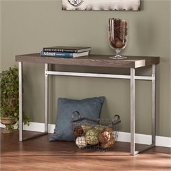 Pemberly Row Console Table in Weathered Burnt Oak