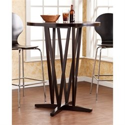 Pemberly Row Round Bar Table in Dark Espresso