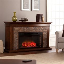 Pemberly Row Electric Fireplace in Maple