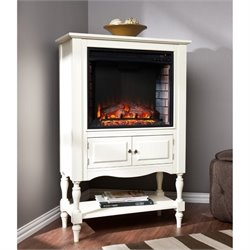 Pemberly Row Fireplace Tower in Antique White