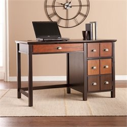 Pemberly Row Apothecary Desk in Espresso