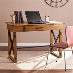 Pemberly Row Height Adjustable Desk in Glazed Pine
