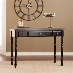 Pemberly Row Lift Top Desk in Ebony and Bronze