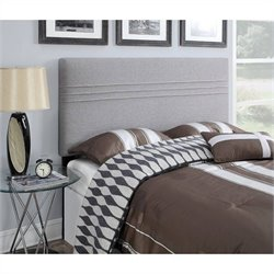 Upholstered Headboard in Silver