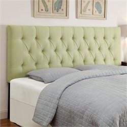 Upholstered Headboard in Lime