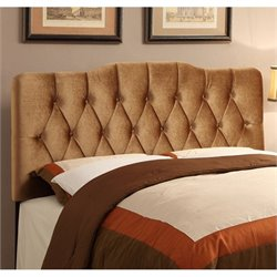 MER-1396 Velvet Upholstered Panel Headboard in Rich Bronze