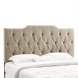 Tufted Panel Headboard in Tan