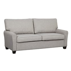 Pemberly Row Upholstered Loveseat in Gray