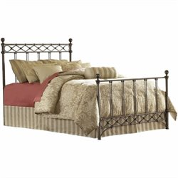 Pemberly Row Metal Poster Bed in Copper Chrome