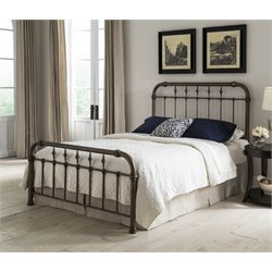 Pemberly Row Metal Bed in Aged Gold