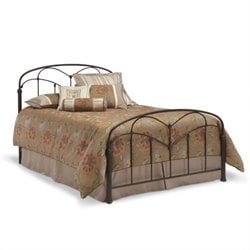 Pemberly Row Metal Bed in Hazelnut
