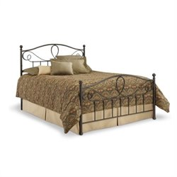 Pemberly Row Metal Poster Bed in French Roast
