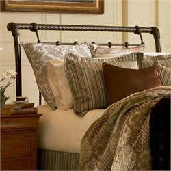 Pemberly Row Sleigh Headboard in Gold