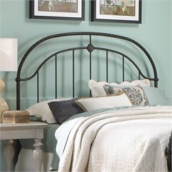 Pemberly Row Metal Headboard in Ancient Gold