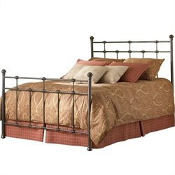 Pemberly Row Metal Poster Bed in Hammered Brown