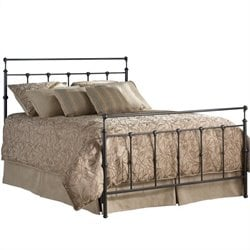 Pemberly Row Metal Bed in Mahogany Gold