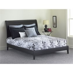 Pemberly Row Modern Platform Bed in Black 1