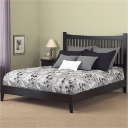 Pemberly Row Modern Platform Bed in Black
