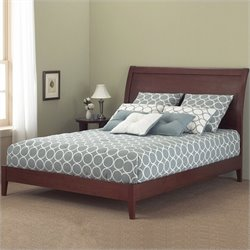 Pemberly Row Modern Platform Bed in Mahogany 1