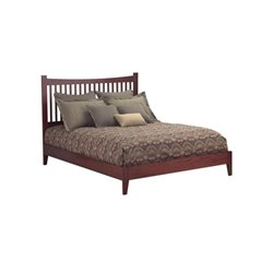 Pemberly Row Modern Platform Bed in Mahogany
