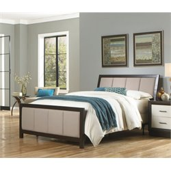 Pemberly Row Panel Upholstered Bed in Espresso