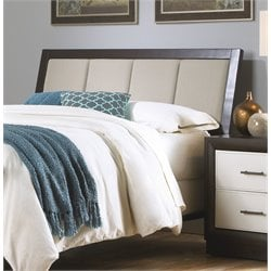 Pemberly Row Panel Upholstered Headboard in Espresso
