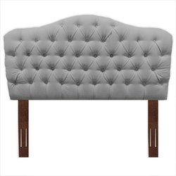 Pemberly Row Wood Upholstered Headboard in Gray