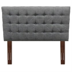 Pemberly Row Wood Upholstered Headboard in Gray 1