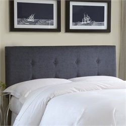 Pemberly Row Upholstered Headboard in Gray 1