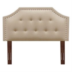 Pemberly Row Wood Upholstered Headboard in Cream