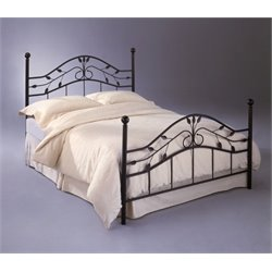 Pemberly Row Metal Poster Bed in Hammered Copper