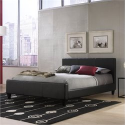 Pemberly Row Platform Bed in Black